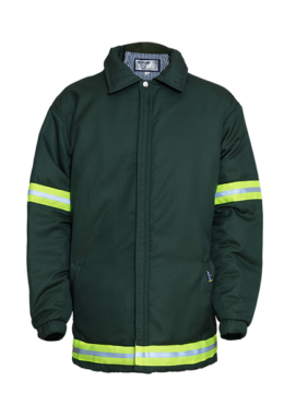 Green Padded Zip Through Jacket with Quilted Lining