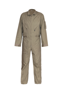 Brown club collar zip through boiler suit