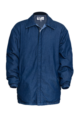 Mens Denim Padded Jacket with Quilted Lining