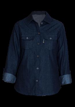 Ladies Long Sleeve Denim Shirt