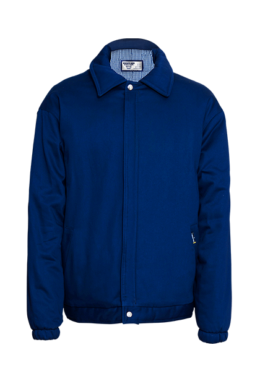 Blue Mens Padded Bunny Jacket