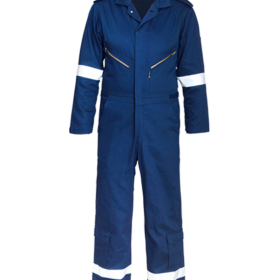 Visible Zip Detail Boilersuit with Velcro at Hems & Cuffs