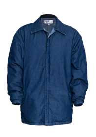 Denim Padded Jacket with Quilted Lining