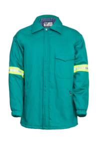 Flame Retardant Padded Zip Through Jacket with High Vis Detail