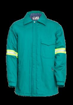 Flame Retardant Padded Zip Through Jacket with High Vis Detail