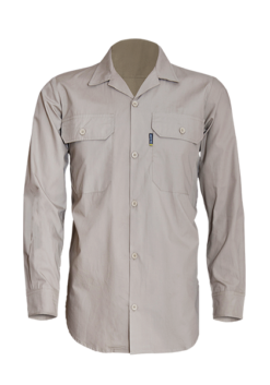 Male Long Sleeve Cotton Shirt with Glad Neck