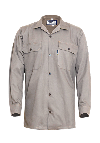 Long Sleeve Cotton Poplin Shirt with Straight Hem
