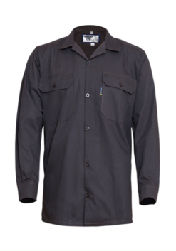 Long Sleeve Shirt with Straight Hem and Glad Neck