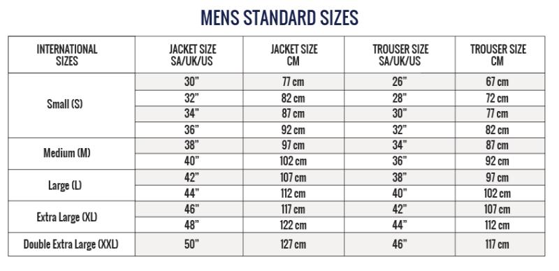 Sweet-Orr - Size Guide
