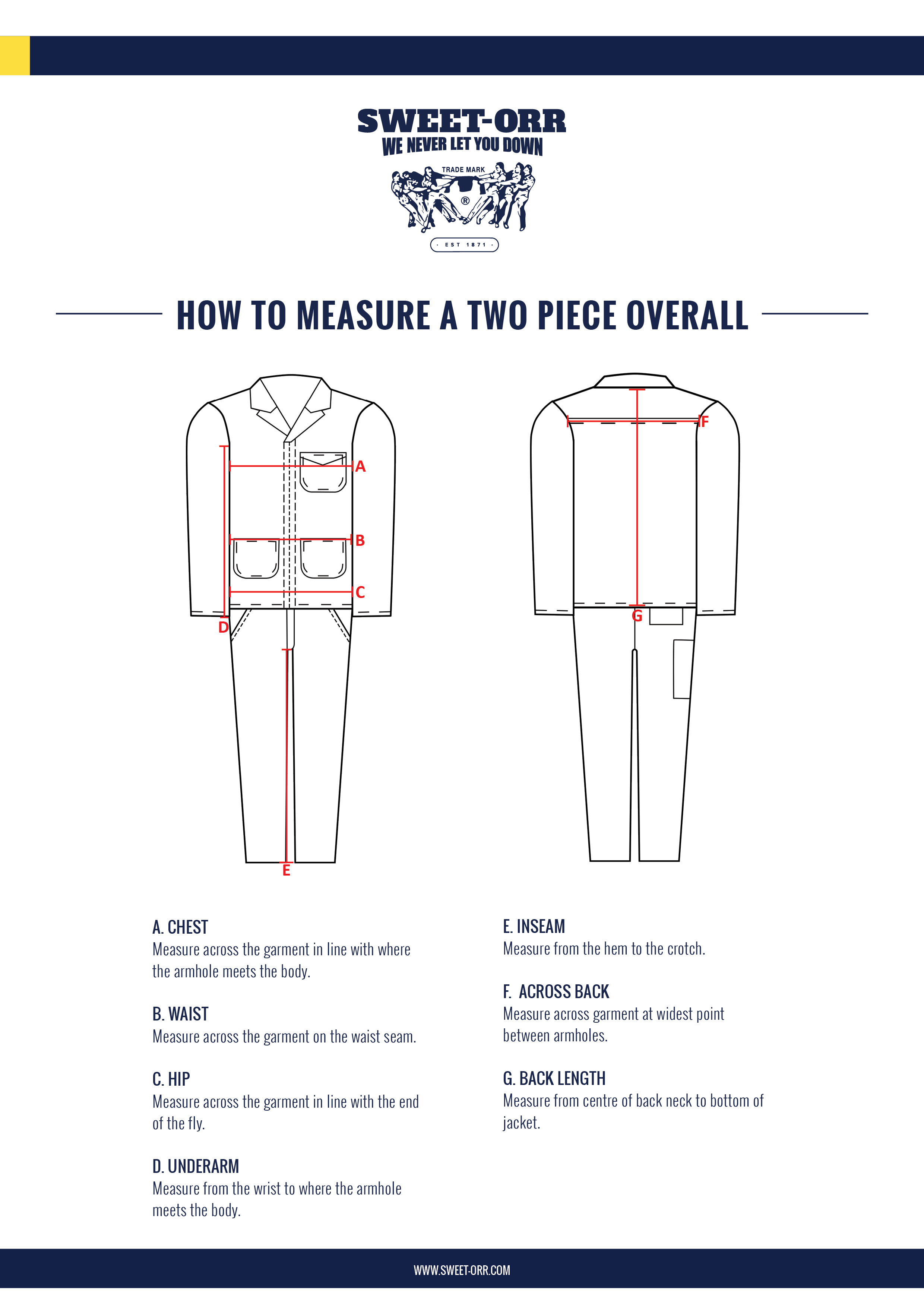Two-Piece - Overall Measuring