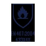 EN 407:2004 433X4X